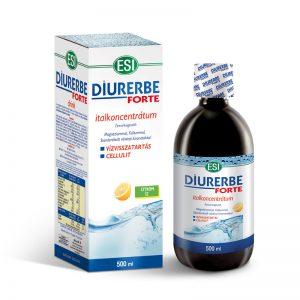 ESI® Diurerbe® Forte italkoncentrátum, citrom íz – Vízvisszatartás és cellulit ellen. 500ml