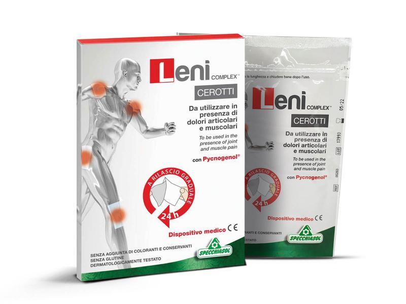 Specchiasol® Leni complex 24 órás tapasz - Fájdalomcsillapító, ízület, izom, reumatikus panaszok esetén.