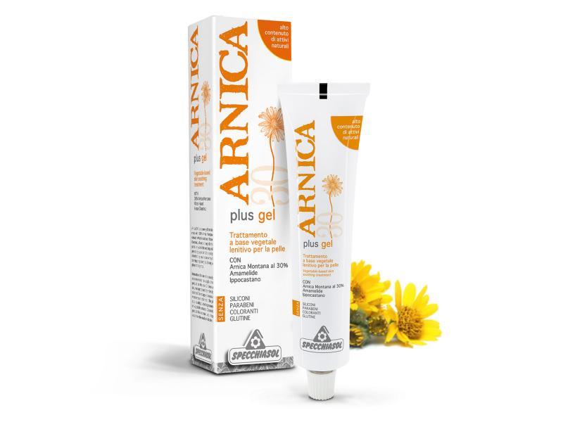 Specchiasol® Arnika plus gél - 30% árnika kivonattal. Zúzódás, ficam, reuma, bőrgyulladások 75ml