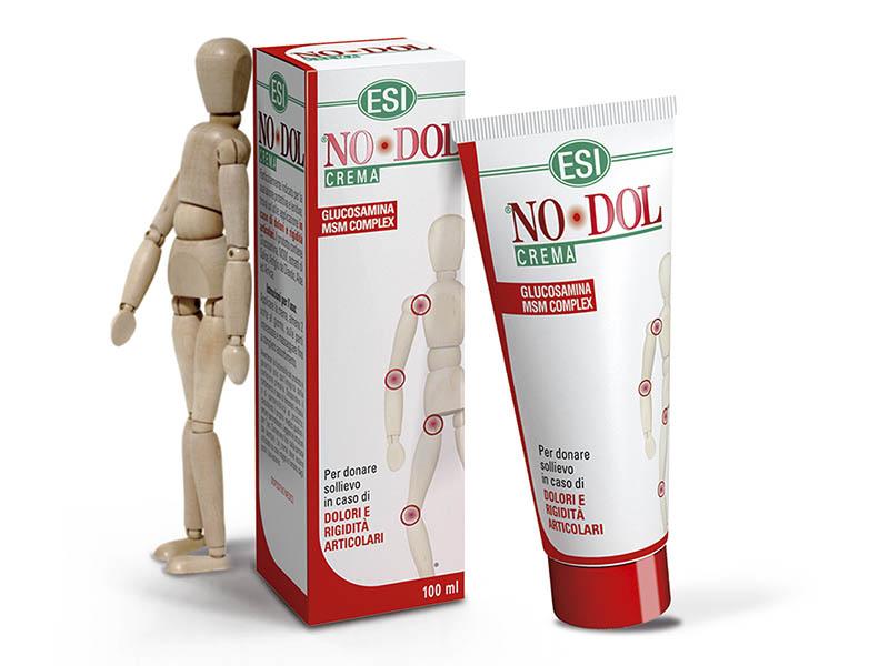 ESI® NO-DOL Glükozamin és MSM krém - Fájdalom és gyulladáscsökkentő CE/Orvostechnikai eszköz.