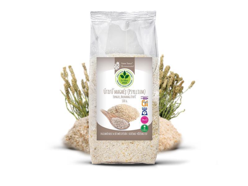 Dr. Natur étkek, Útifű maghéj (Psyllium) Duzzadó rost a jó emésztésért. Sütéshez-főzéshez is! 100g