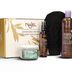 Najel Tradicionális Török Hammam fürdőrituálé. A csomagban: 4 egymásra épülő termék. Kellemes pihenést!