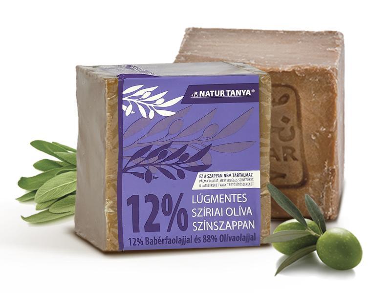 Najel szíriai Oliva színszappan - 12% Babérfaolaj és 88% Olívaolaj. 2000 éves receptúra, 0,001 % lúg!