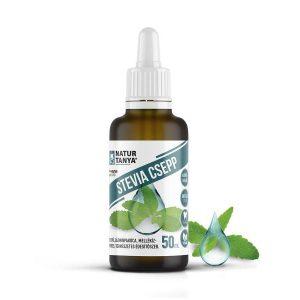 Dr. Natur étkek, Stevia csepp (Édesfű, Jázminpakóca) Mellékíz-mentes, természetes édesítőszer.