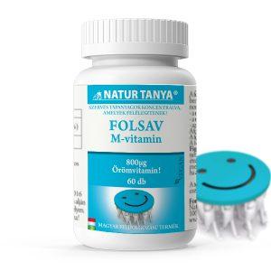 Natur Tanya® Folsav tabletta (M-vitamin) - Az öröm vitaminja! Fáradtság és kimerültség.