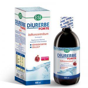 ESI® Diurerbe® Forte italkoncentrátum, gránátalma íz – Vízvisszatartás és cellulit ellen. 500ml