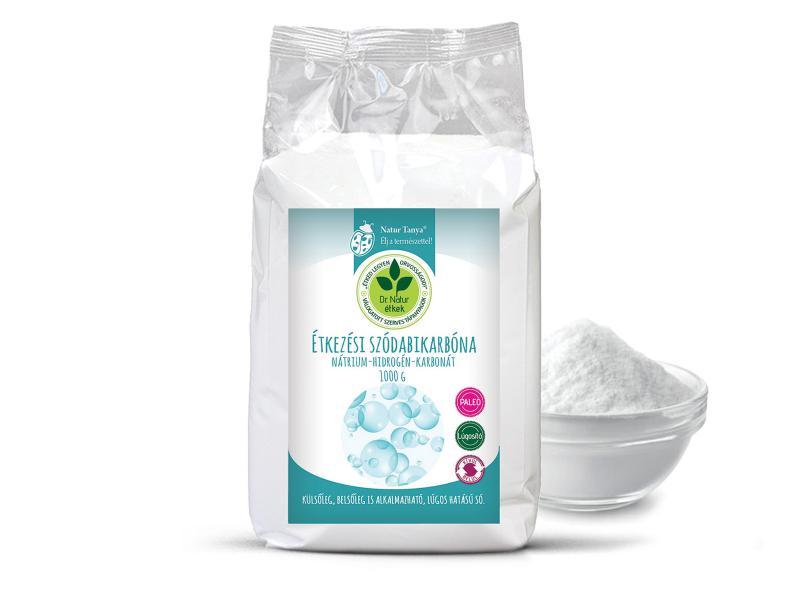 Dr. Natur étkek, Étkezési szódabikarbóna. Nátrium-hidrogén-karbonát. Külsőleg, belsőleg is! 1kg