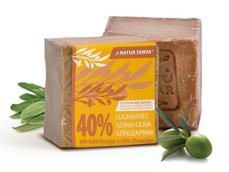 Najel 40%-os bio babérfaolaj tartalmú, szíriai színszappan. Hajmosáshoz is! Lúgtartalom.: 0,001%!