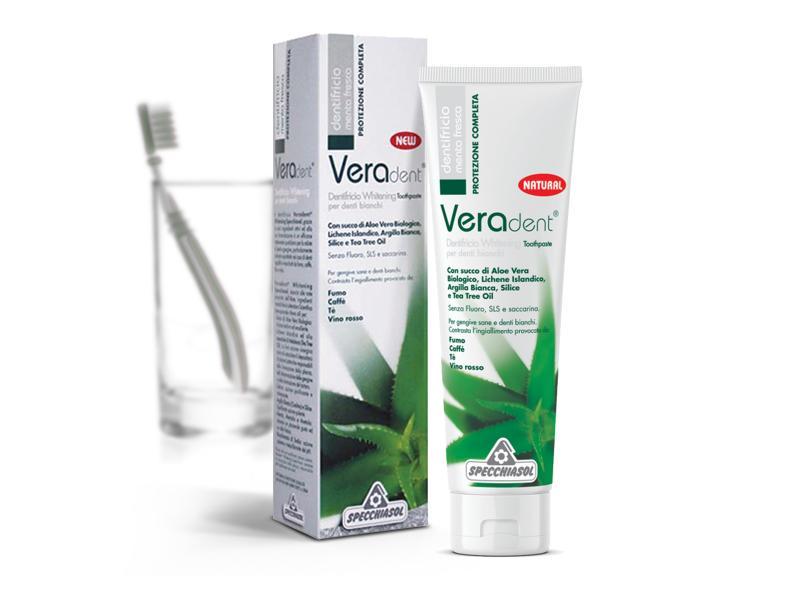 Specchiasol® Veradent® Fehérítő Fogkrém - Friss menta ízzel, fehérítő, pH-érték szabályozó hatással.