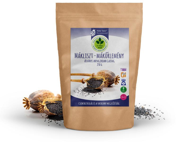 Dr. Natur étkek, Mákliszt – Mákőrlemény, Ásványi anyagokban gazdag, alacsony szénhidrát tartalmú