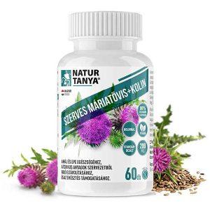Natur Tanya® Szerves Máriatövis mag kivonat kolinnal - 160mg szilimaron tartalommal a máj egészségéért!