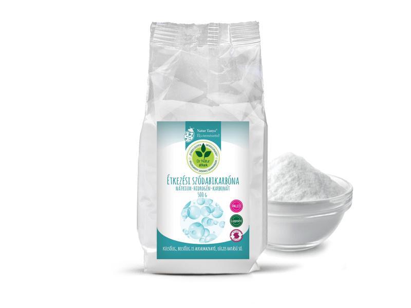Dr. Natur étkek, Étkezési szódabikarbóna. Nátrium-hidrogén-karbonát. Külsőleg, belsőleg is! 500g