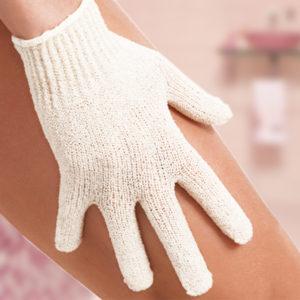 Natur Tanya® 5 ujjas Masszázskesztyű 1PÁR - radírozó, vérkeringést serkentő hatással, arcra, testre.