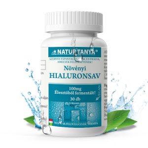 Natur Tanya® Szerves hialuronsav – Fermentált, magas biohasznosulású, 100mg/tabl. hatóanyag tartalommal.