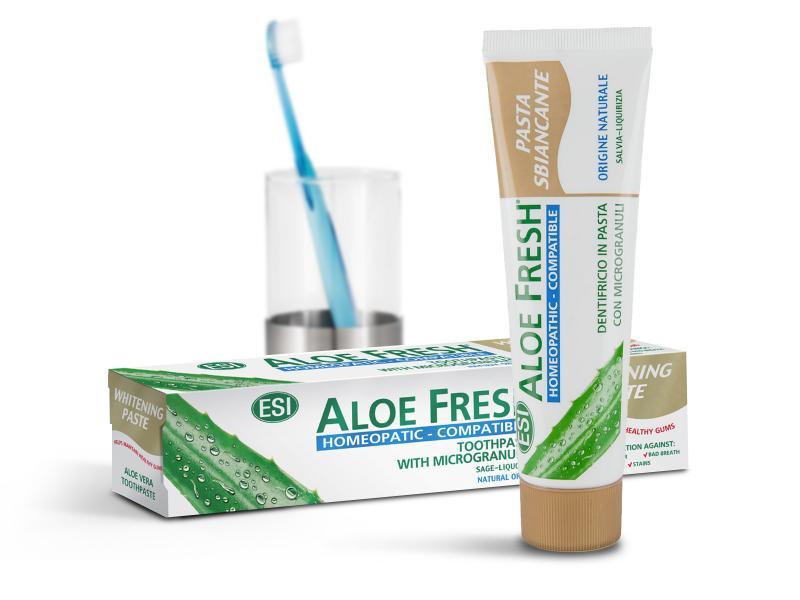 ESI®Aloe Fresh® Fehér mosoly fogkrém - Homeopáta-kompatibilis. Fluor, parabén és SLS mentes.