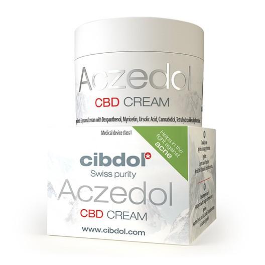 cibdol CBD Aczedol akne és pattanás elleni krém, 50ml - kolloid zabliszt, kannabidiol komplex, liposzómákban