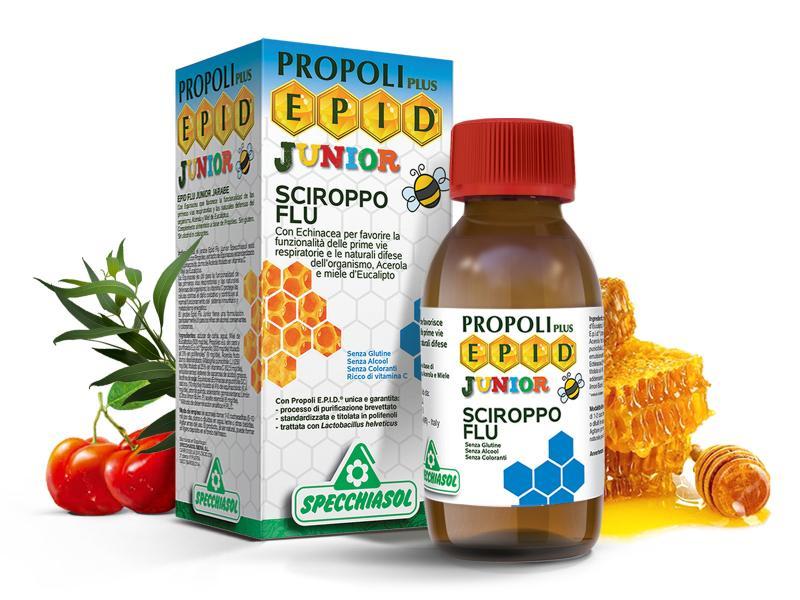 E.P.I.D.® Flu Junior Immuntámogató szirup gyermekeknek, 3 éves kortól
