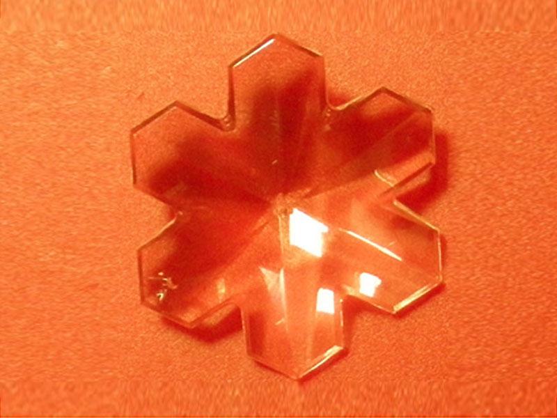Feng Shui szivárványkristály nagy hópihe - 50 mm