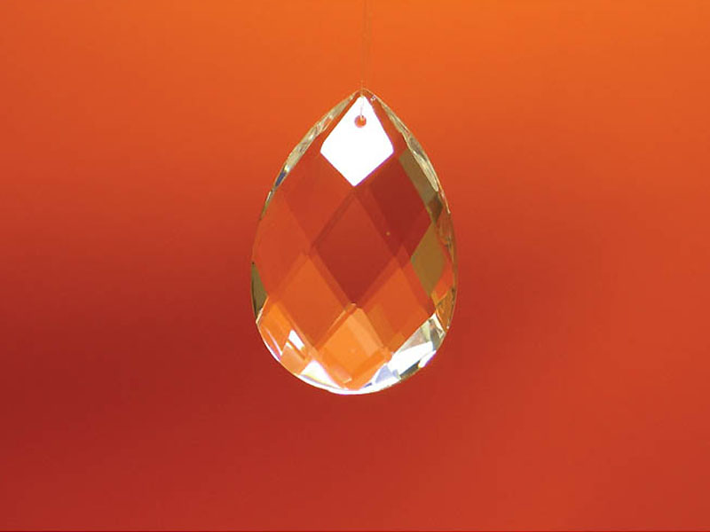 Feng Shui szivárványkristály kis levél - 38 mm