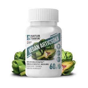 Natur Tanya® Vegán Articsóka – Standardizált articsóka kivonat, ornitin aminosavval és B-vitaminokkal. Egészséges májműködés, emésztés és bélkomfort.
