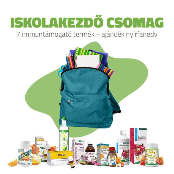 Iskolakezdő csomag – 7 szerves immuntámogató + AJÁNDÉK